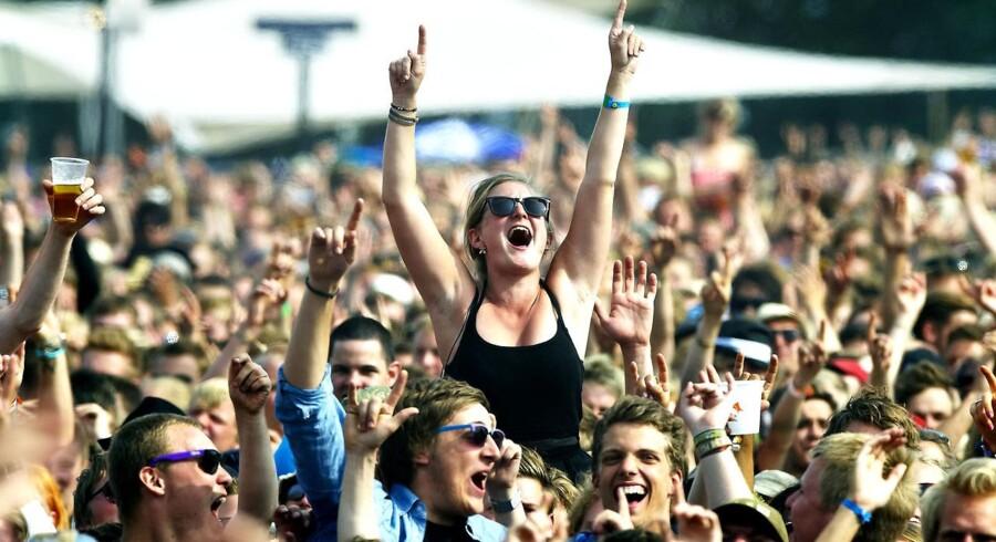 Roskilde Festival regner med at få udsolgt i år. Arkivfoto.