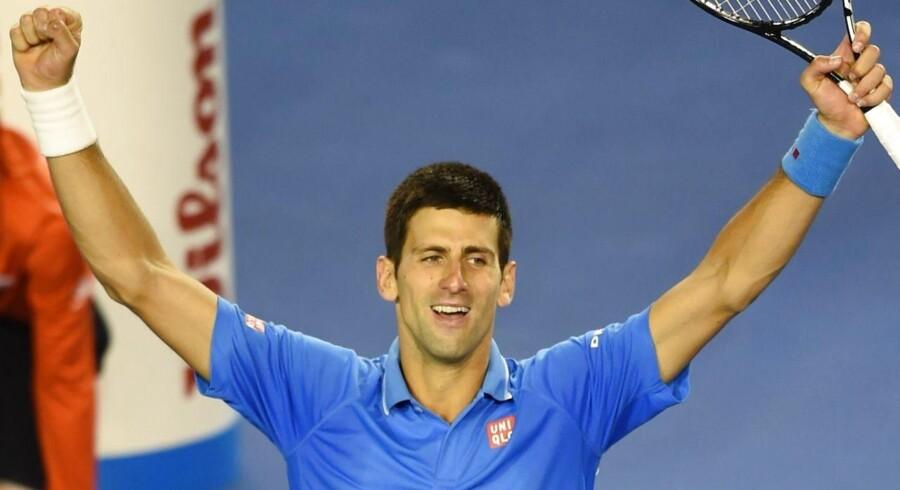 Novak Djokovic vandt søndag sit femte Australian Open-trofæ.