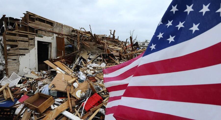 Her stod en gang et hus - i Juplin, Missouri i USA.