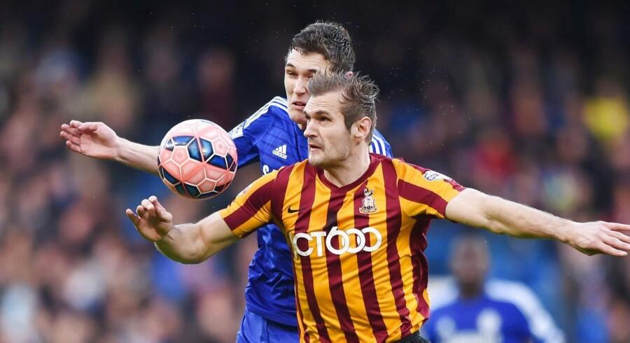 Andreas Christensen gav sig fuldt ud i Chelseas sejr over Bradford.