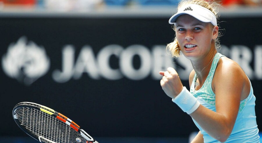Caroline Wozniacki indledte Australien Open med en sejr over den unge amerikaner Taylor Townsend. Klik videre for at se flere billeder fra kampen.