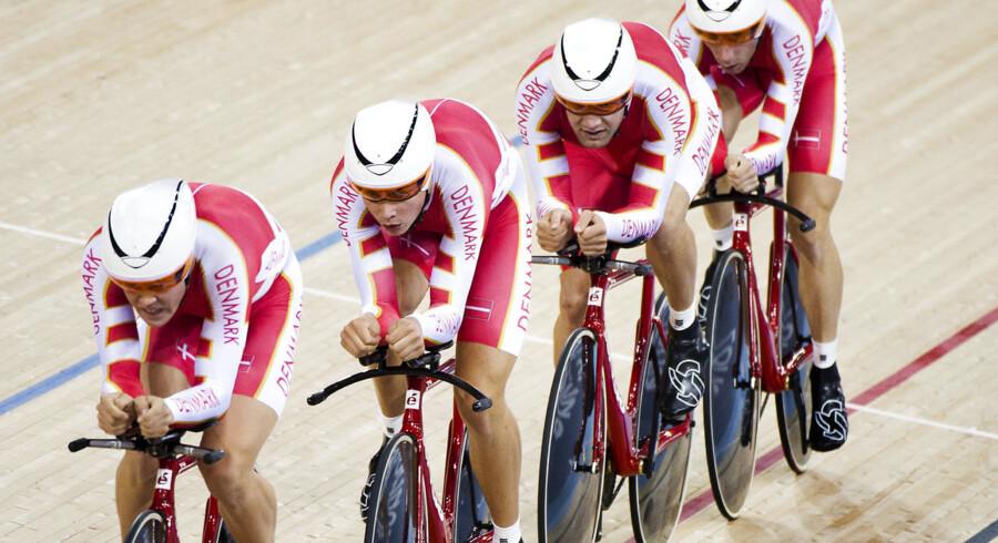 4000 meter-holdet - her tilbage under OL i London med en noget andet besætning - måtte nøjes med fjerdepladsen i Cali, Colombia. Rasmus Quaade og Casper Folsach er dog stadig en del af holdet.