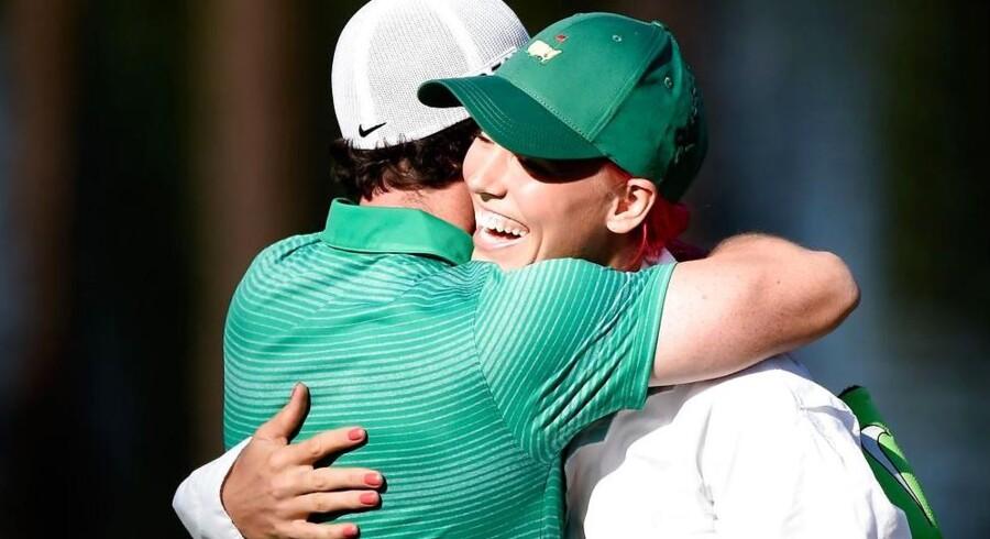 Mens alt endnu var godt: Rory McIlroy og Caroline Wozniacki i foråret 2014.