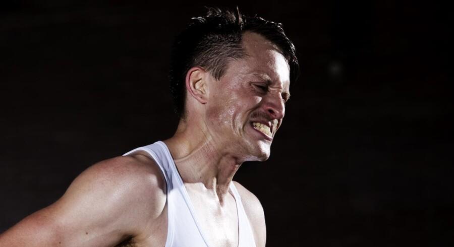 Fotograf Jens Astrup fangede deltagerne i Copenhagen Marathon 2 kilometer før mål.