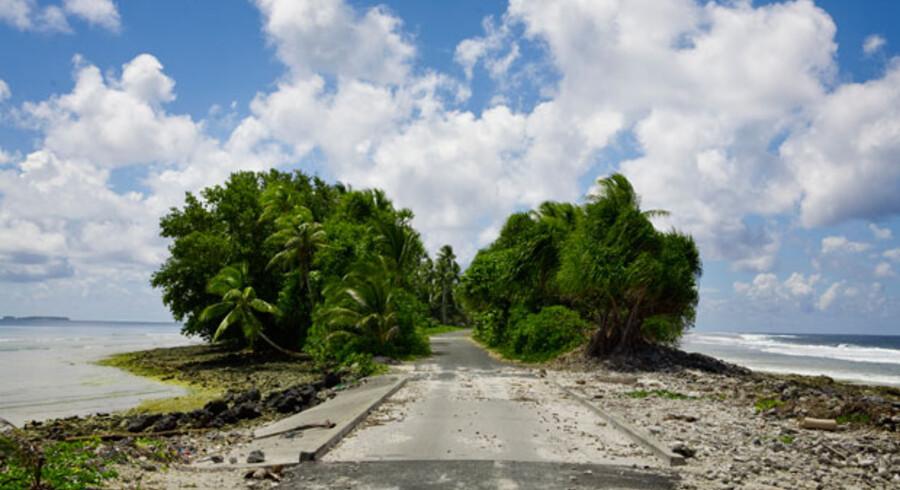 Ø-riget Tuvalu vil være et af de første lande i verden, som forsvinder, hvis havene fortsætter med at stige.