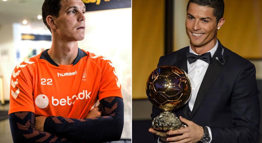 Daniel Agger stemte på Cristiano Ronaldo til Ballon d'Or-afstemningen