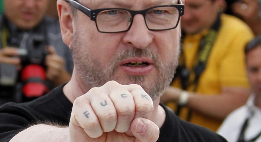 """Lars Von Trier provokerede også inden hans films """"Melancholia"""" blev vist på filmfestivallen."""