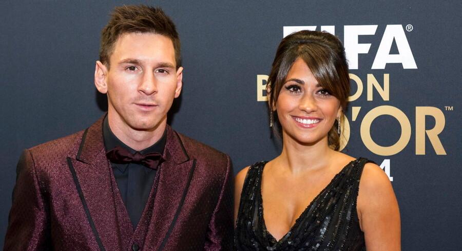 Lionel Messi med kæresten Antonella Roccuzzo til FIFAs Ballon d'Or-uddeling