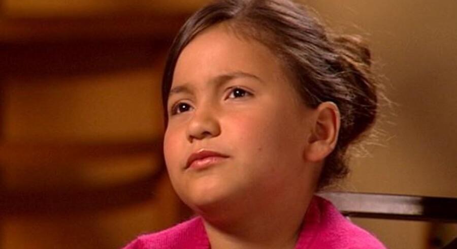 Britney Campbell er bare 8 år gammel, men har allerede fået botox.