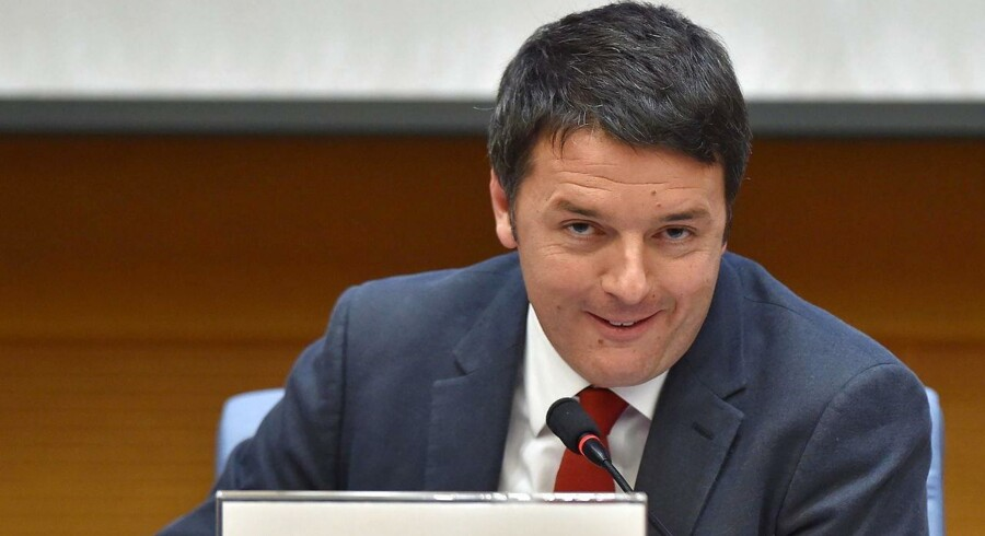 Matteo Renzi under årets sidste pressemøde i Rom 29. december 2014. Foto: Ettore Ferrari/EPA