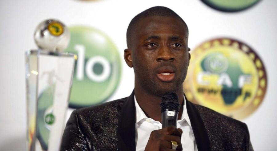 Yaya Toure er kåret til årets spiller i Afrika for fjerde år i træk.