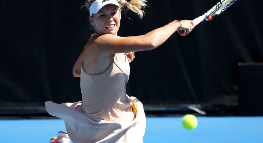 Caroline Wozniacki i finalen mod Venus Williams i Auckland, New Zealand. En kamp hun tabte.