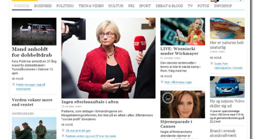 """B.dk har vundet en designpris i kategorien """"Bedste forsider"""", som Society for News Design Scandinavia uddelte torsdag aften."""
