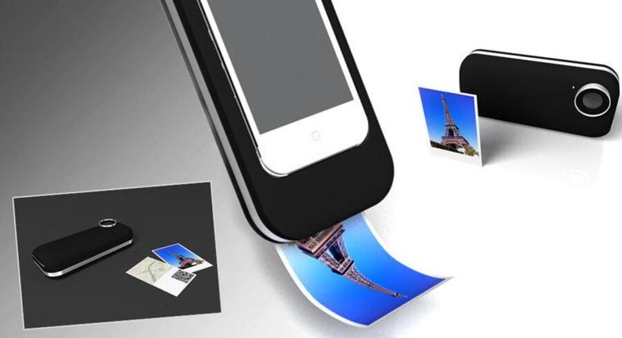 En designer har udtænkt en måde, hvorpå man kan overføre polaroid-konceptet til iPhone. Ideen kan tænkes overført til andre smart phones også.