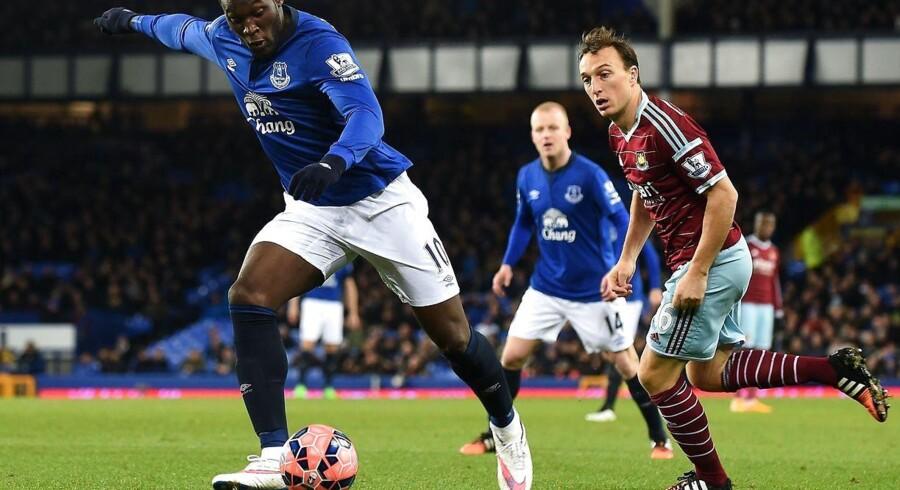 Romelu Lokaku blev dagens helt for Everton.