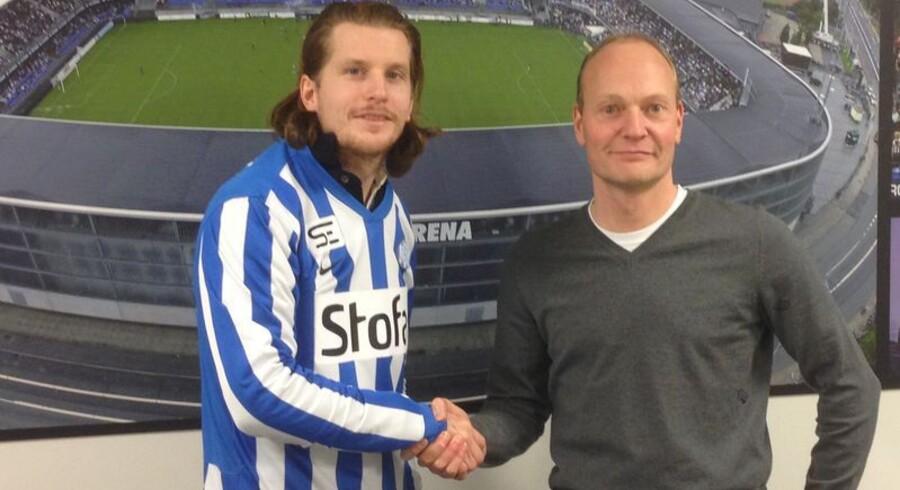 Erik Friberg og cheftræner Niels Frederiksen.