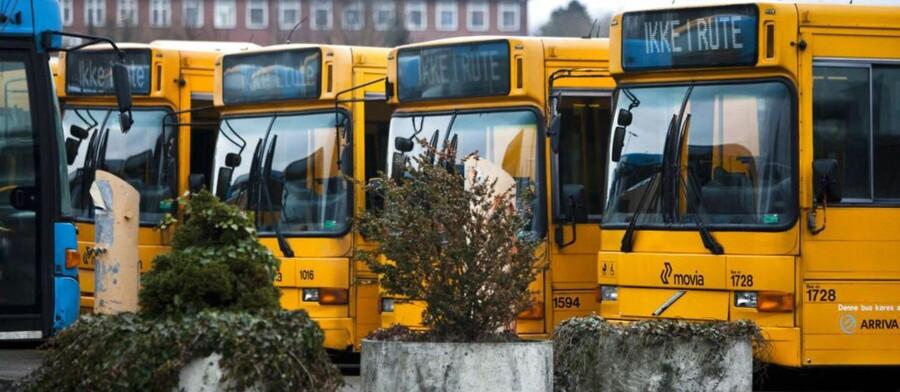 Buslinjerne 2A, 6A, 68, 161, 176, 200S og 350S kører ikke mandag morgen.