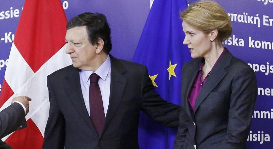 Danmarks statsminister spås gode chancer for at afløse Jose Manuel Barroso som EU Kommissionens formand. Det kræver dog, at venstrefløjen vinder magten i parlamentet.