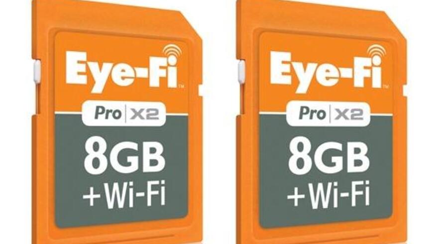 Memory-kortet fra Eye-Fi kan nu overføre billederne lige efter de er taget tråløst til mobile enheder.