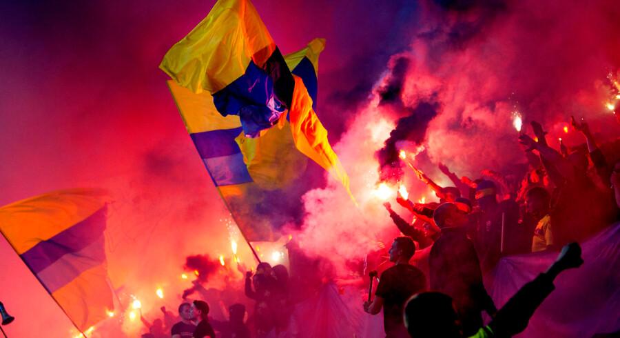 FCK - Brøndby i Parken Superligafans fra Brøndby IF på besøg...