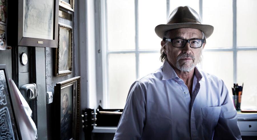 Lars H.U.G. er tilbage med sin første samling dansksprogede sange siden 1992. Sted: Lars H.U.G.s atelier, Nørregade i København.