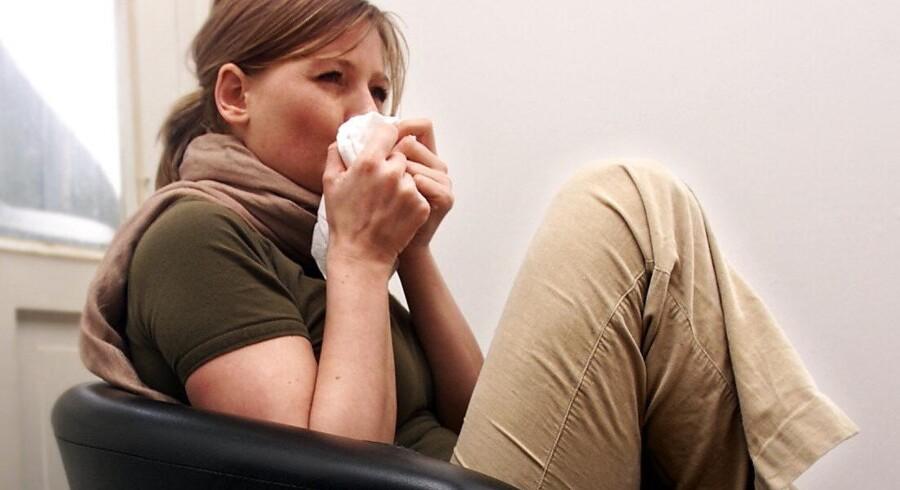 MODELFOTO. Det er tid til at finde lommetørklæderne frem, hvis du har pollenallergi.