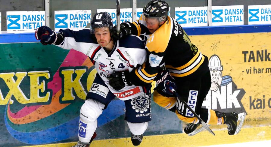 Kæden med Steffen Frank (billedet) Nick Dineen og Thomas Spelling var med i alle fire Sønderjyske-mål i Herning.