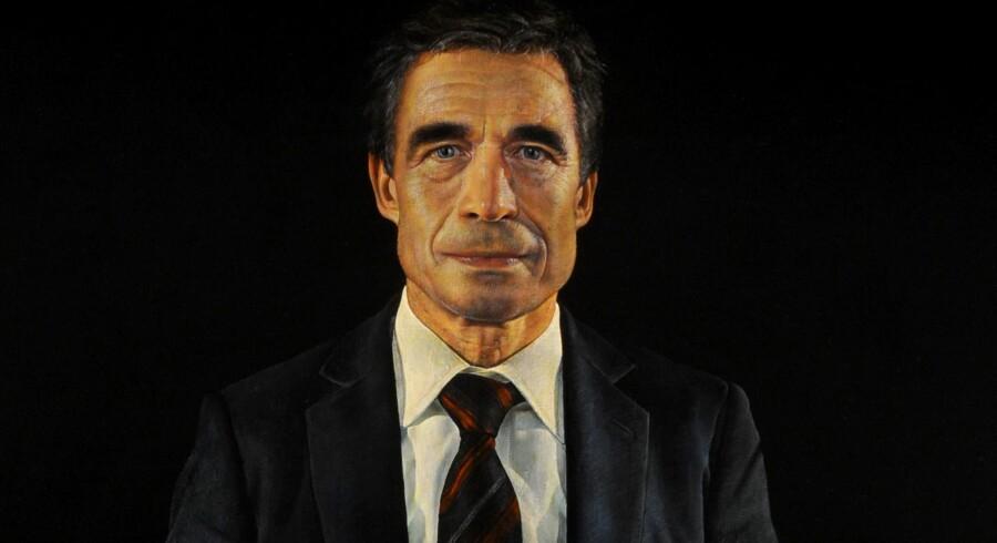 Maleren Thomas Kluges bud på Anders Fogh Rasmussens eftermæle. Set det i fuld størrelse på næste billede.