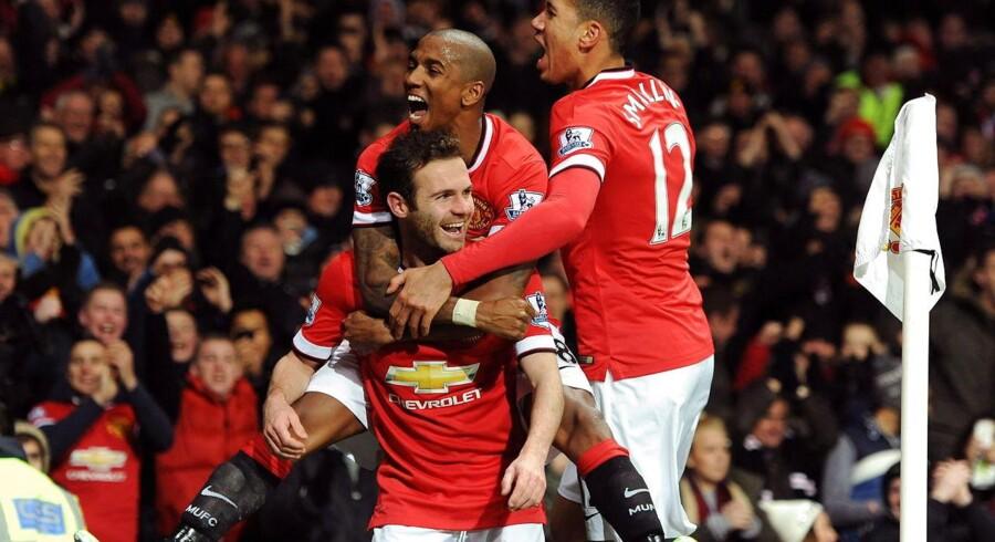 Juan Mata blev matchvinder med sit mål til 2-1 mod Stoke.