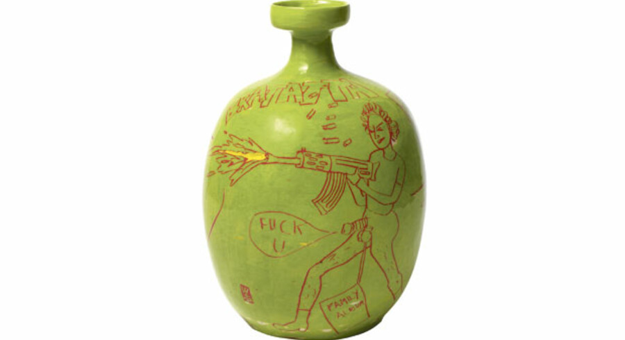 »Anger vase« hedder dette værk af den britiske kunstner Grayson Perry.