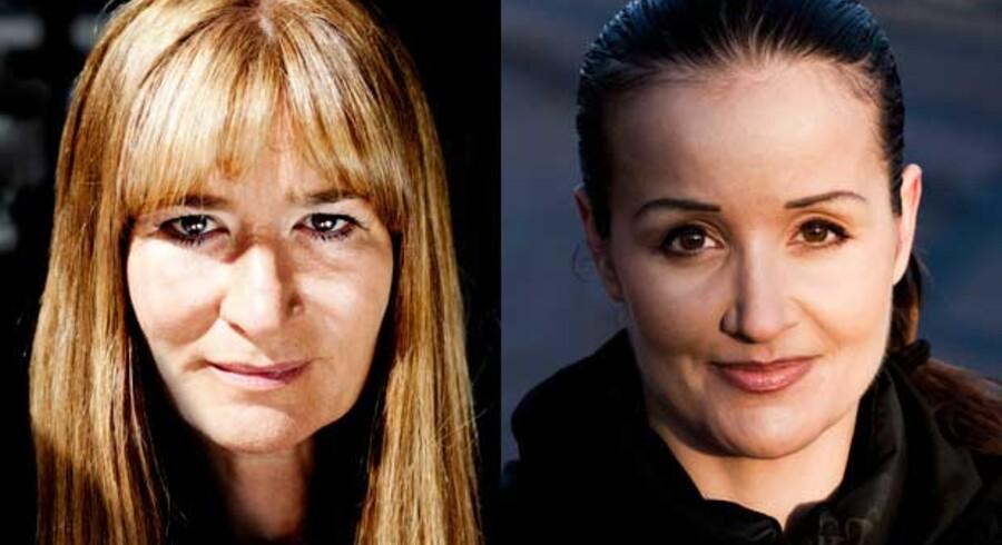 Bente Klarlund Pedersen, til venstre, har nu indberettet Milena Penkowa for fusk med forskningsbilleder.