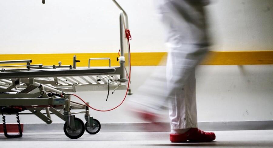 Sygeplejerske på Roskilde sygehus strejker.