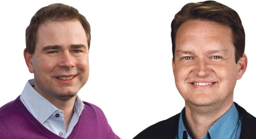 Nicolai Wammen og Jan Vammen Dam, henholdsvis borgmester, Aarhus (S) og byrådsmedlem, Greve (V)