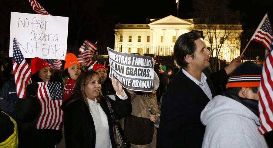 Borgere i Washington D.C. fejrer Obamas tale natten til fredag, hvor præsidenten slog fast, at han vil gennemføre en immigrationsreform.