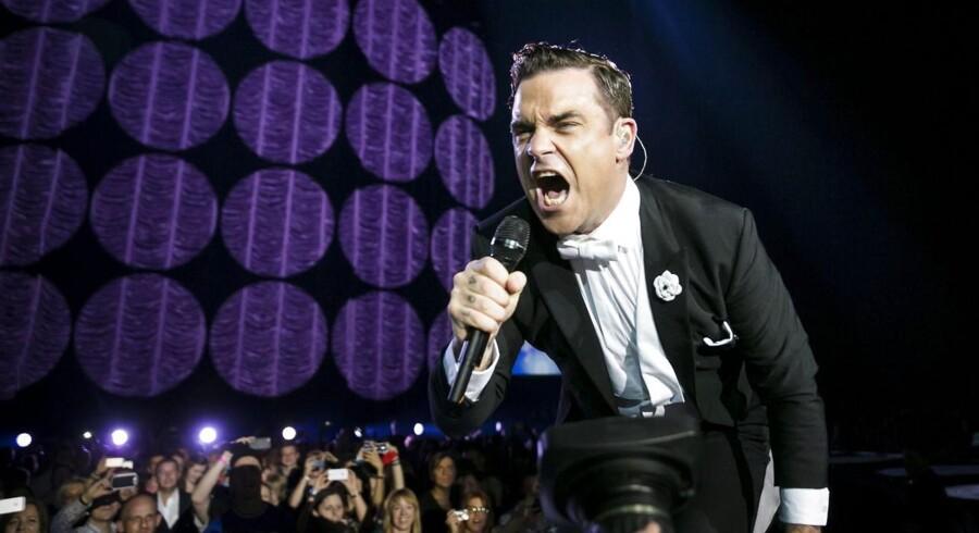 Arkivfoto. Robbie Williams er hovednavn på den odenseanske festival Tinderbox.