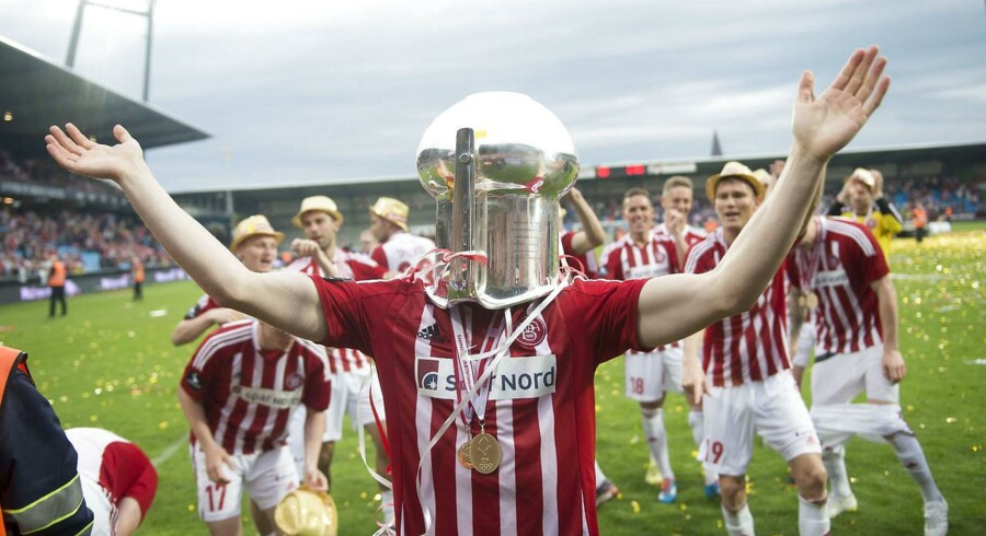 AaB-spillerne jublede, da DM-guldet i foråret blev sikret.
