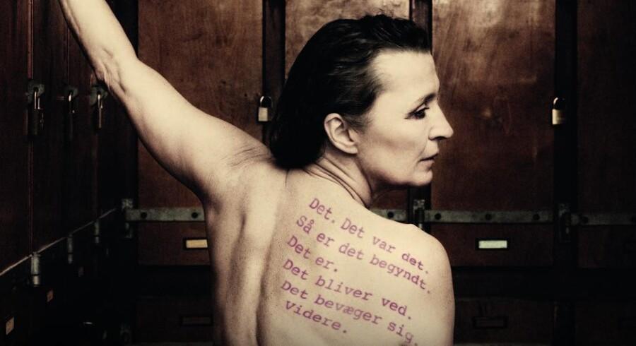 Karen-Lise Mynster i forestillingen »Det springende punkt«, som hun selv satte op på Teatret ved Sorte Hest i 2013.