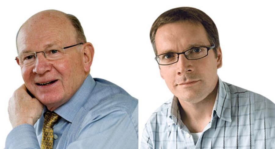 Niels Due Jensen, koncernbestyrelsesformand i Grundfos og Mads Roke Clausen, direktør i Mødrehjælpen