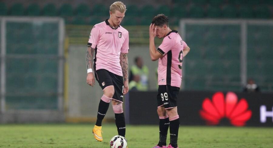 Det er efterhånden et par kampe siden, at Makienok har været i aktion for Palermo. Her ses han mod Lazio i slutningen af september.