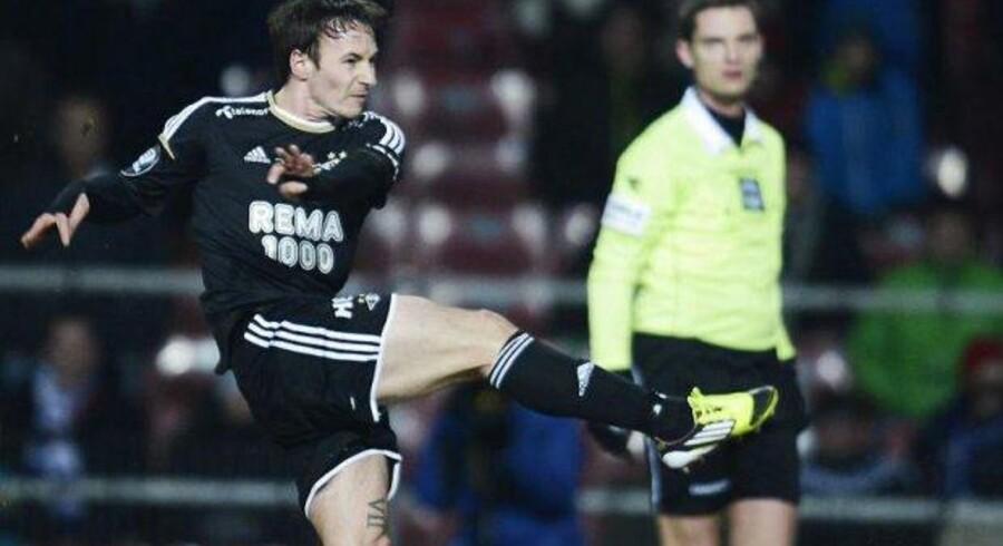 Mike Jensen var med to scoringer med til at sikre Rosenborg sølv