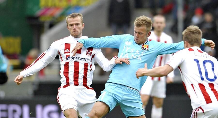 Danske Christian Gytkjær ses her i aktion for sin gamle klub FC Nordsjælland.