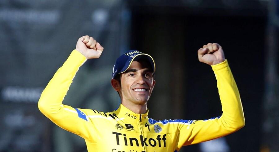 Alberto Contador er vant til at bestige bjerge, men ikke til fods.