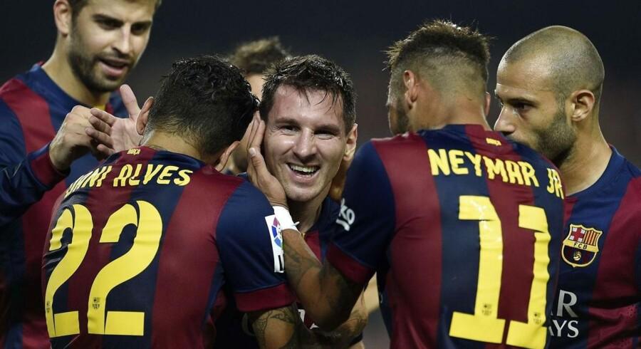Lionel Messi scorede til 3-0 mod Eibar.