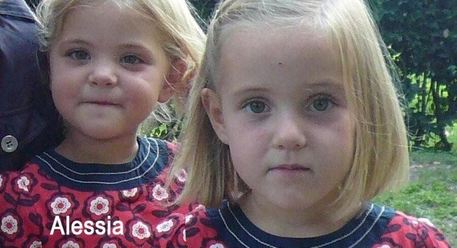 Et af politiets billeder af tvillingeparret Alessia og Livia.