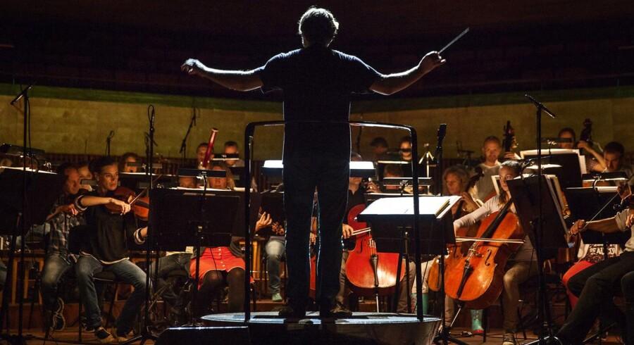 """Arkivfoto: DR Underholdningsorkestret holder generalprøve på """"Sigmund Freud - til fest i underbevidstheden"""" i DR Koncertsalen."""