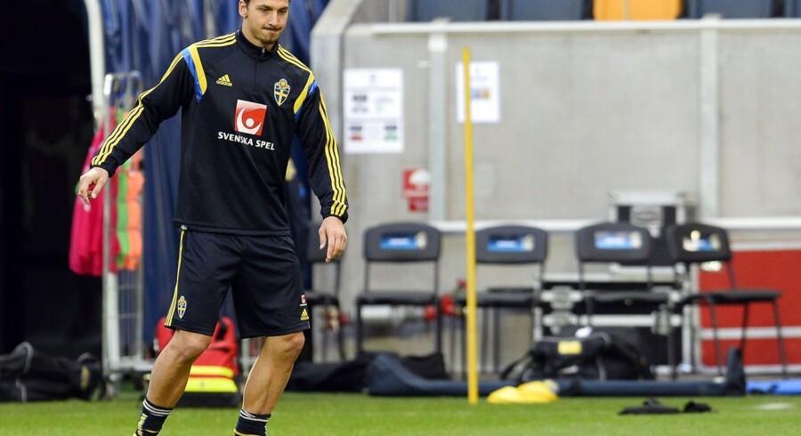 Zlatan Ibrahimovich har problemer med hælen forud for søndagens møde med Liechtenstein.