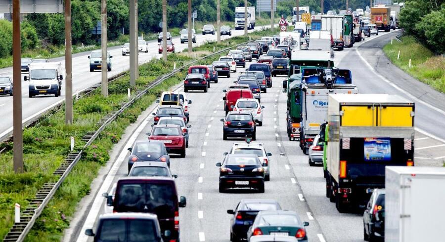 ARKIVFOTO. Holbækmotorvejen er spærret pga. politiets efterforsnkingsarbejde.