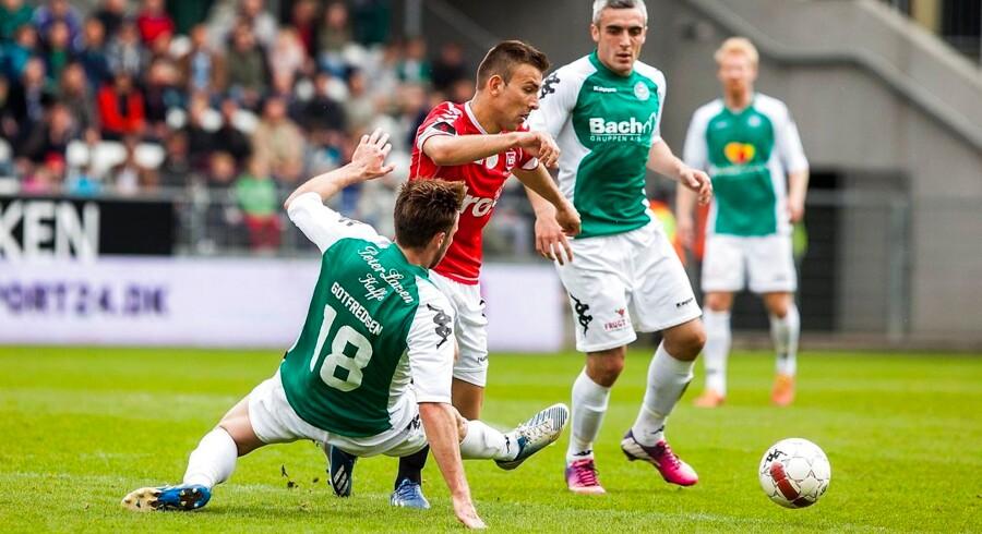 Vejle tilkæmpede sig et flot point på udebane mod Viborg.