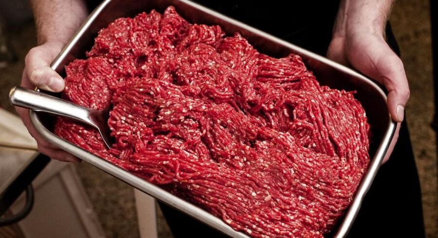 Hakket oksekød. Arkivfoto
