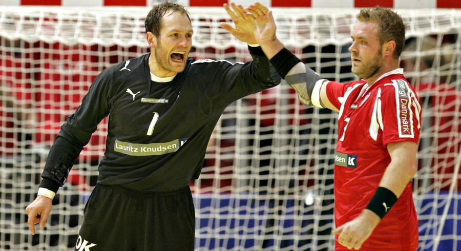 Kasper Hvidt, til venstre,og Joachim Boldsen har spillet på hold sammen både i KIF Kolding København og på det danske landshold.